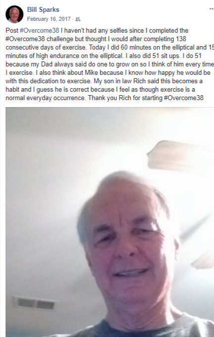 Bill Sparks Day 138 #Overcome38