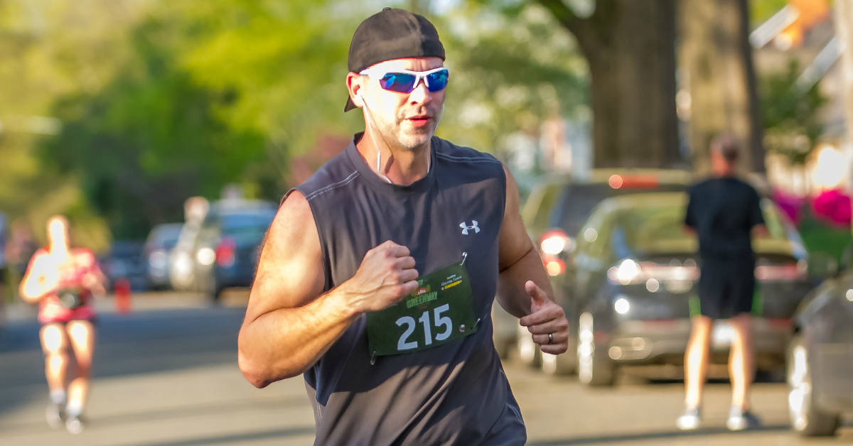 Rich Tucker Running 5k April 2018