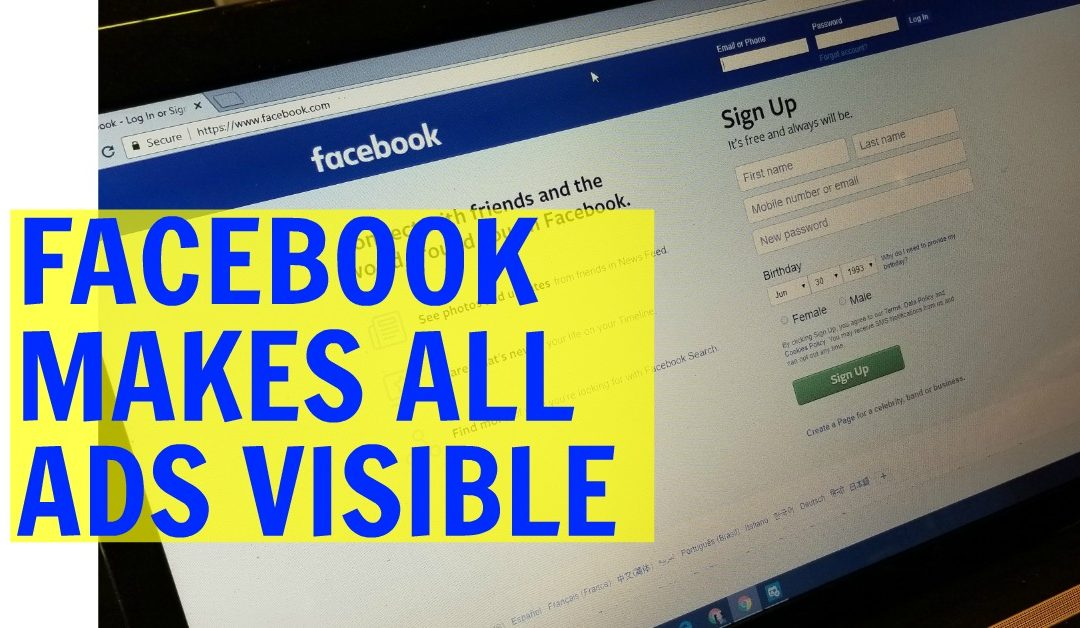 Every Facebook Ad Now Visible For All To See