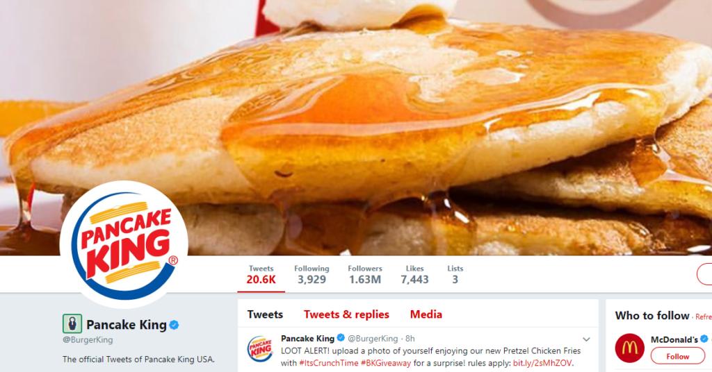 When Burger King Changed To Pancake King